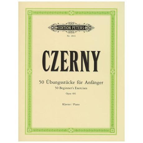 Czerny, C.: 50 Übungsstücke für Anfänger Op. 481