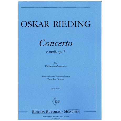 Rieding, O.: Concertino Op. 7 e-Moll