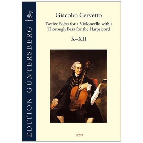 Cervetto, G.: 12 Solos Op. 2 – Violoncellosonaten 10-12