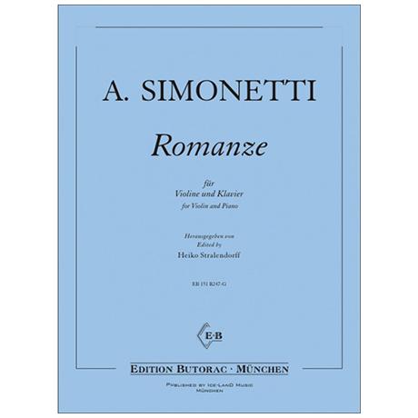 Simonetti, A.: Romanze