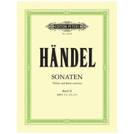 Händel, G. F.: Violinsonaten Band 2 HWV 371 / 372 / 373