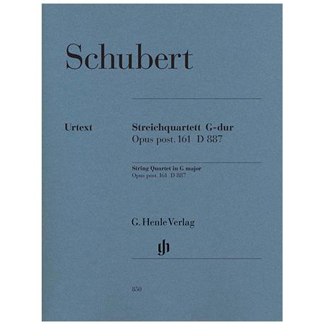 Schubert, F.: Streichquartett G-Dur Op. posth.161 D887