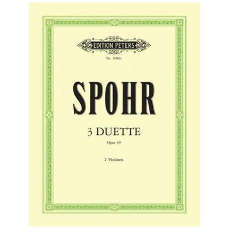 Spohr, L.: 3 Duette Op. 39