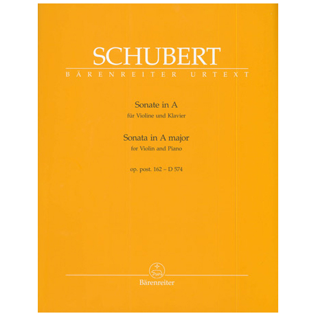 Schubert, F.: Violinsonate Op. post. 162 D 574 A-Dur