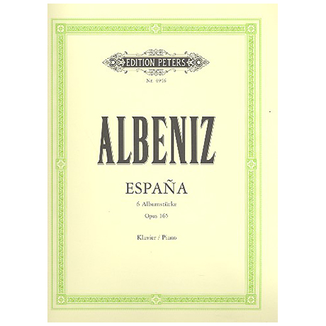 Albéniz, I.: Espana, 6 Albumstücke Op. 165