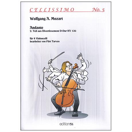 Mozart, W. A.: Andante – 2. Teil aus dem Divertissement D-Dur KV 136