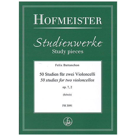 Battanchon, F.: 50 Studien für zwei Violoncelli Op. 7/2 (Nr. 21-39)