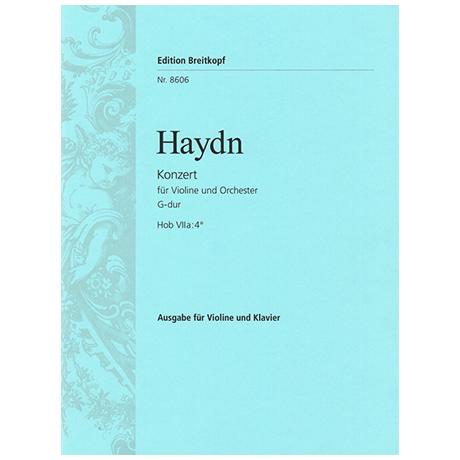 Haydn, J.: Violinkonzert Hob. VIIa: 4 G-Dur