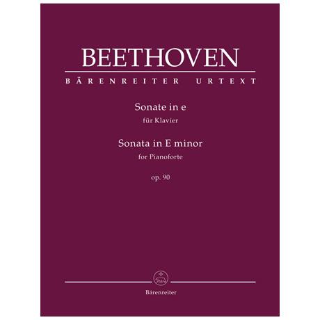Beethoven, L. v.: Klaviersonate Op. 90 e-Moll
