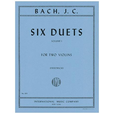 Bach, J. Chr.: Sechs Duette Band 1