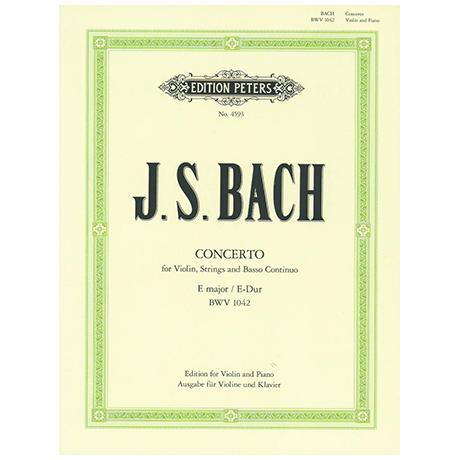 Bach, J. S.: Violinkonzert Nr. 2 BWV 1042 E-Dur