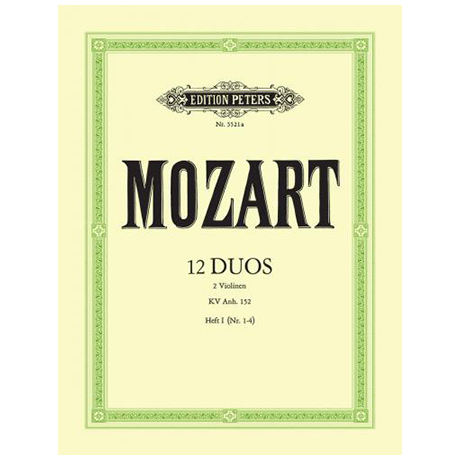 Mozart, W. A.: 12 Duos, Band 1 KV Anh. 152