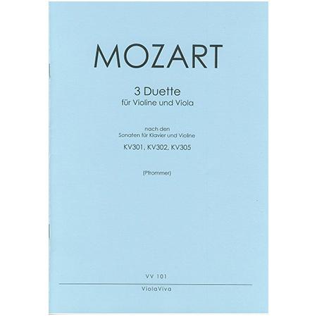 Mozart, W. A.: 3 Duette nach KV 301, KV 302 und KV 305