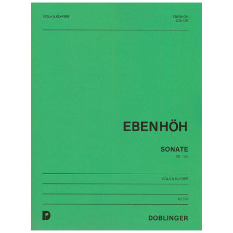 Ebenhöh, H.: Sonate Op.19 Nr.2