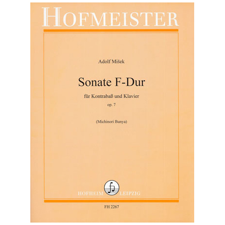 Misek, A.: Kontrabasssonate F-Dur Op.7