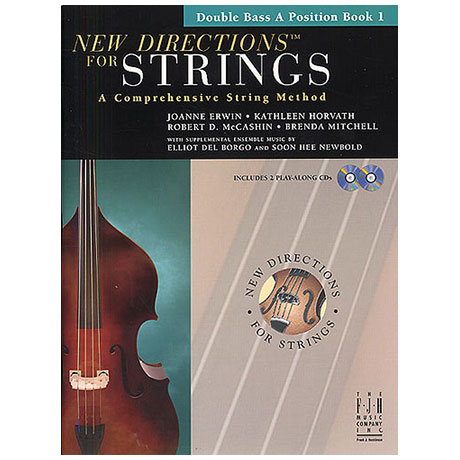 New Directions for Strings - Double Bass A Position Book 1 (+CD)