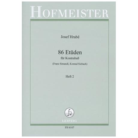 Simandl, Franz: 86 Etüden Heft 2