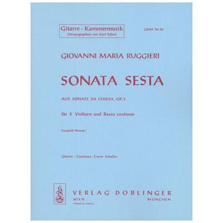 Ruggieri, G. M.: Sonata sesta A-Dur Op. 3