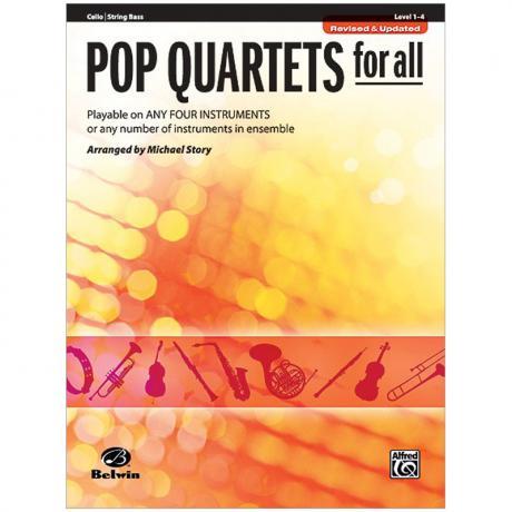 Pop Quartets for All (Cello/Bass)