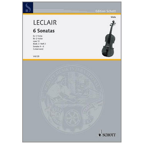 Leclair, J.M.: 6 Sonaten Band 2 (Nr.4-6)