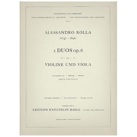 Rolla, A.: 2 Duos Op. 6/1 C-Dur und Op. 6/2 g-Moll