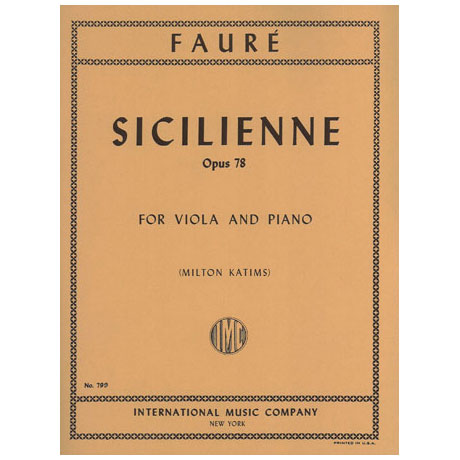 Faure, G.: Sicilienne Op. 78 g-Moll
