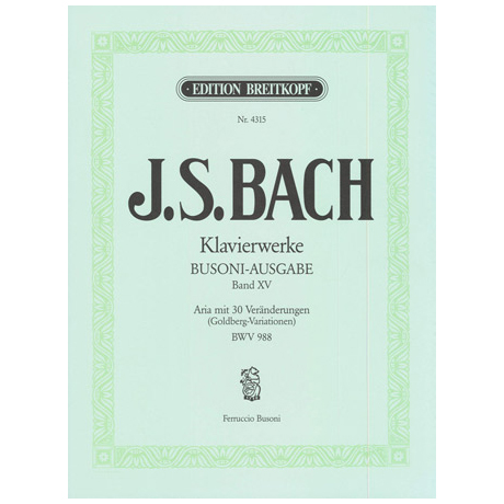 Bach, J. S.: Aria mit 30 Veränderungen (Goldber-Variationen) BWV 988