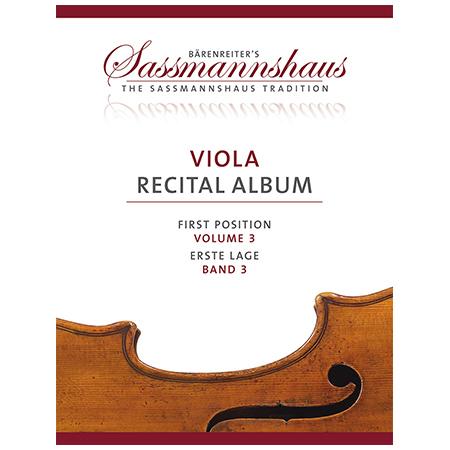 Sassmannshaus: Viola Recital Album Band 3