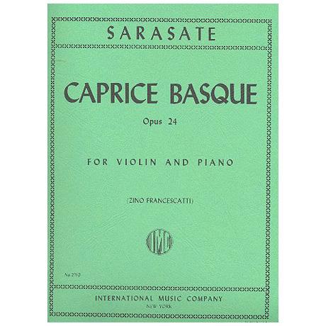 Sarasate, P. d.: Caprice basque Op. 24