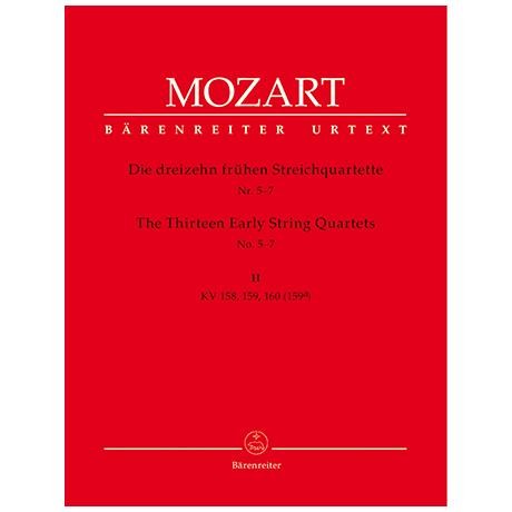 Mozart, W.A.: Die dreizehn frühen Streichquartette Bd.2 KV 158, 159, 160