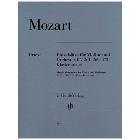 Mozart, W.A.: Einzelsätze für Violine + Orchester, KV 261, 269, 373 Urtext