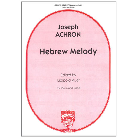 Achron, J.: Hebrew Melody