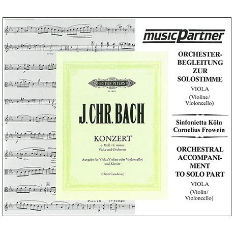 Bach, J. Chr.: Violakonzert c-Moll (Casadesus) – nur Begleit-CD