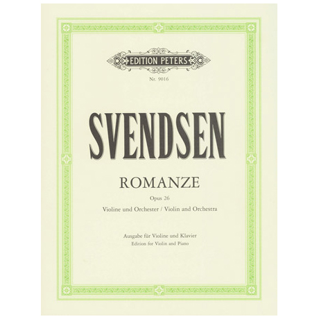 Svendsen, J. S. : Romanze Op. 26