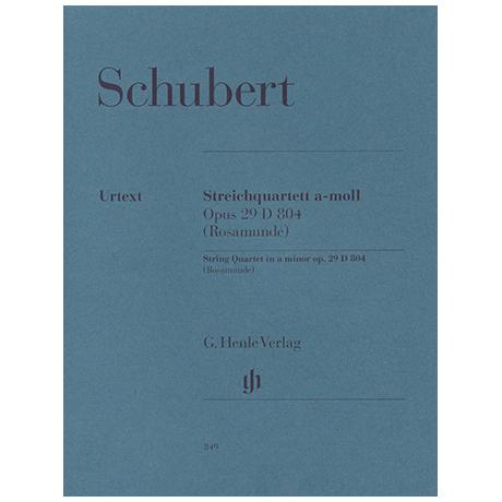 Schubert, F.: Streichquartett Op. 29 D 804 a-Moll (Rosamunde)