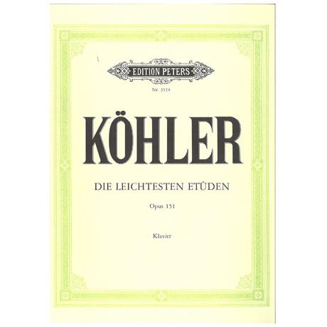 Köhler, L.: Die leichtesten Etüden Op.151