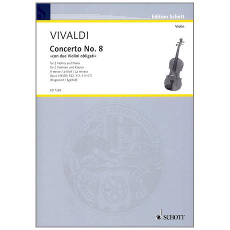 Vivaldi, A.: Violinkonzert Op. 3/8 a-Moll