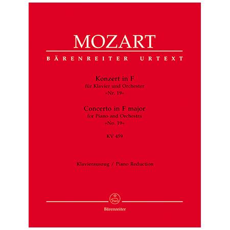 Mozart, W. A.: Klavierkonzert Nr. 19 KV 459 F-Dur