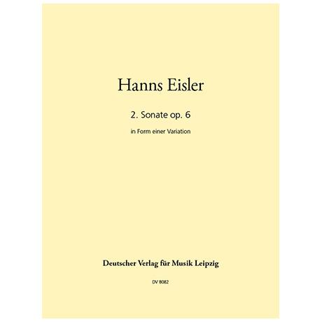 Eisler, H.: Zweite Sonate für Klavier Op. 6