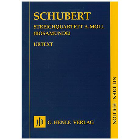 Schubert, F.: Streichquartett Op. 29 D 804 a-Moll (Rosamunde) – Partitur