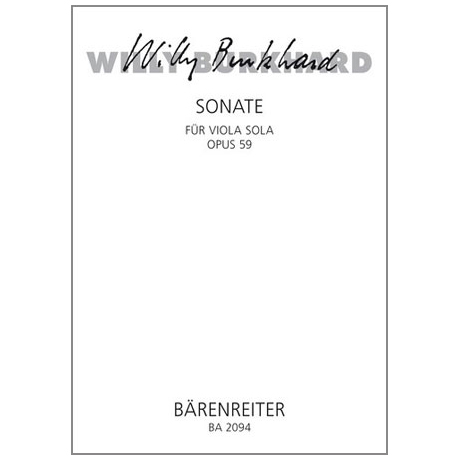 Burkhard, W.: Violasonate Op. 59 (1939)