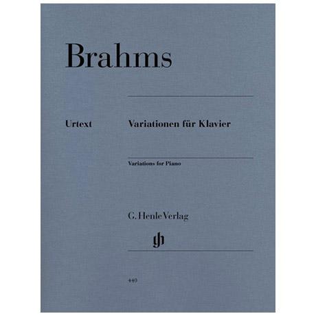 Brahms, J.: Variationen für Klavier