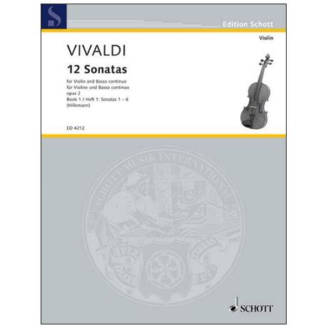 Vivaldi, A.: 12 Violinsonaten Op. 2 Band 1