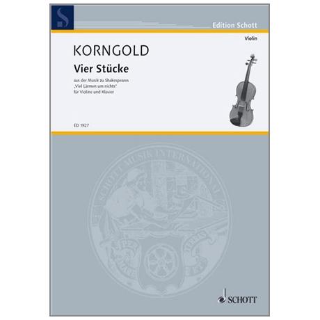 Korngold, E. W.: 4 Stücke Op. 11