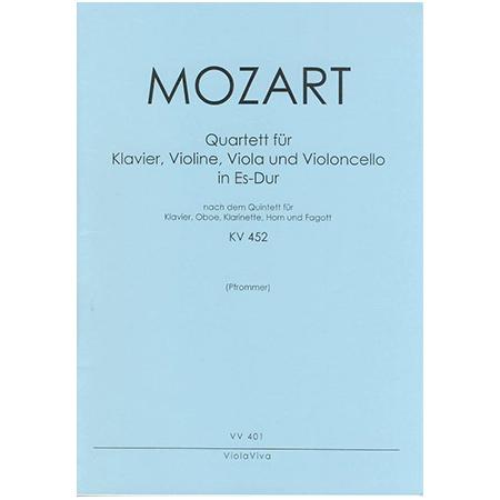 Mozart, W. A.: Klavierquartett Es-Dur nach KV 452