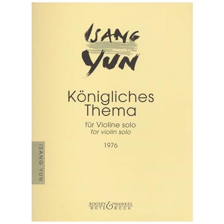 Yun, I.: Königliches Thema - nach dem »Musikalischen Opfer« von Bach