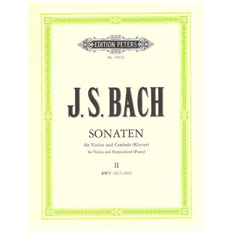 Bach, J. S.: 6 Violinsonaten Band 2 (Nr. 4-6) BWV 1017-1019