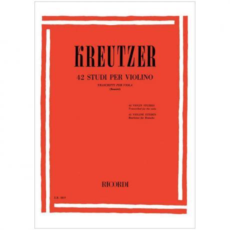 Kreutzer, R.: 42 Violaetüden