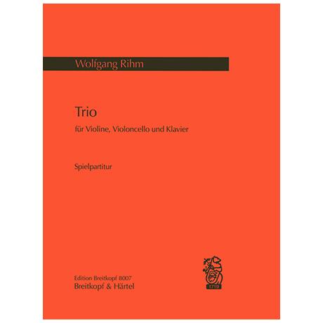 Rihm, W.: Klaviertrio (1972)