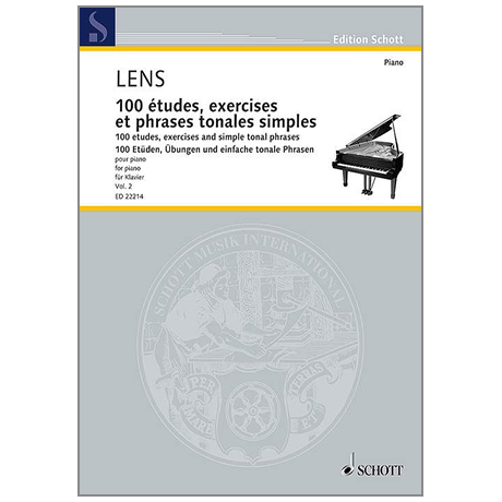 Lens, N.: 100 études, exercises et phrases tonales simples – Band 2